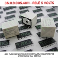 36.11.9.005.4011 5VOLTS - Rele 5Volts , RELAY 36.11.9.005.4011  - RELAY GEN PURPOSE SPDT 70ohm 1(Contact), Miniature PCB relays 5 Terminais, 10A, 250VAC