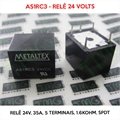 AS1RC3, 24VOLTS - Relê 24V, 35A, 5 Terminais, Electromechanical Relay 24VDC 1.6KOhm 35A SPDT