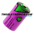 Bateria de Lithium Alta Temperatura 3,6V, LITHIUM size 1/2AA 3.6v, High Temperature Primary Lithium Battery NOT Rechargeable - 55°C Á 130°C