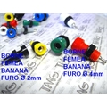 BORNE BANANA - FEMEA PARA PAINEL 2Mm Corrente Nominal Max 10 A- Banana Jack, TMG-B67 COLORS 8X20Mm