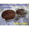 CR2032 - LITHUM 3V TIPO BOT�O Button Cell / TERMINAL TIPO 42
