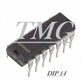 4002 - CI Logic Gates CMOS NOR Gate 2-Element 4-IN CMOS 14Pin DIP