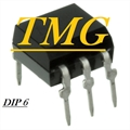 4N25 - CI Optocoupl DC-IN 1-CH Trans W / Base DC-OUT 6Pin DIP