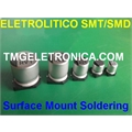 0,1uF,0.1mF SMD - CAPACITOR ELETROLITICO EM SMD,Aluminum Capacitors SMD (Chip), Surface 2,5V Á 100VOLTS