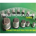 10UF SMD - CAPACITOR ELETROLITICO EM SMD,Aluminum Capacitors SMD (Chip), Surface 2,5V Á 100VOLTS