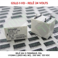 G5LE-1-VD, 24VOLTS - Relé 24V, 10A, 5 Terminais, Power Relays, 1 Form C (SPDT-NO, NC), 250 VAC, 125 VDC, Gen Purpose Relay, OMRON