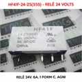 HF41F-24-ZS(555), 24VOLTS - Relê 24V, 6A, 1 Form C, AgNi,  PCB Mount Subminiature Power Relay