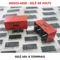 MR602-48SR 48VOLTS - Relê 48V, 8 Terminais