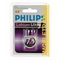 PILHA AA - 1,5V FR6LB2A/10 Philips Lithium Ultra Battery