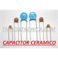 68KpF - Capacitor Ceramico Disco ,Ceramic Disc Capacitors 50Volts Single layer