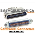 CONECTOR CENTRONICS 50PINOS MALE,FEMALE Solder - CENTRONIC SOLDER CONNECTORS - MACHO OU FEMEA