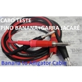 CABO TESTE PINO BANANA + GARRA JACARE,Banana to Alligator Clip Patch Cord 80cm/800MM - Coloridos