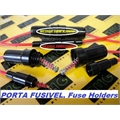 PORTA FUSIVEL COM RABICHO,SUPORTE DE FUSIVEL,BLACK Fuse holder 5x20Mm e 6x30Mm