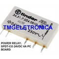 34.51.7.024.0010, 24VOLTS - Rele 24V, FINDER, Ultraslim PCB relay SPDT, 24 VDC, 6 A