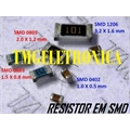 348R - RESISTOR SMD SIZE 0805 - SOLDER PAD DIMENSIONS 2,0Mm x 1,3Mm